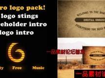 复古的老电影效果logo演绎AE模版,Retro Logo intro pack