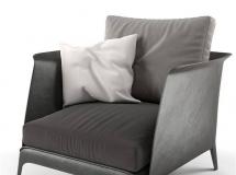 3D椅子模型  布艺沙发椅子3D模型下载