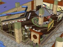 日式餐厅精模-59MB草图大师su模型