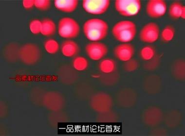 红色吊球光斑闪烁旋转酒吧夜店LED动态背景视频素材