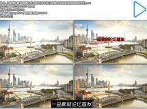 上海浦东繁华景象东方明珠河流车流行驶城市发展高清视频延 ...