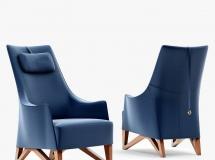 3D沙发模型 后现代皮革单椅子MAX模型