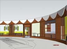 快餐店的室内设计-4M草图大师su模型