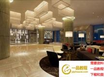 酒店艺术大厅3D模型