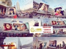 实拍+后期,和迪拜城市风景融合在一起的创意图片展示AE模板