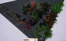 动态交互式绿色植被树叶实例场景UE4游戏素材资源