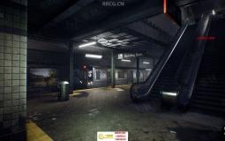 地下室隧道地铁站场景关卡模式UE4游戏素材资源
