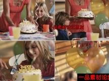 孩子过生日的高清实拍视频素材1080P