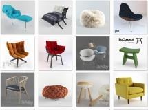 24个时尚高精度沙发模型