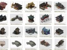 收集的3dsmax古代建筑模型