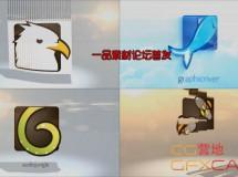 百叶窗翻转Logo展示 VideoHive Simple Logo Reveal Pack