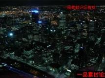 墨尔本城市夜景高清实拍延时素材,Melbourne by Night