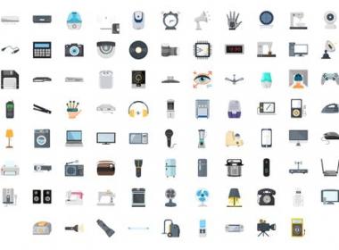 100组电器设备图标ICON动画 100 Electronic Gadgets Icons