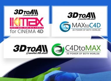 C4D模型快速绑定+MAX C4D互导插件 3DtoAll IKMAX v1.6  + MaxToC4D v4.8 + C4DToMax v1.4 for Cinema 4D R15-R23 Win破解版