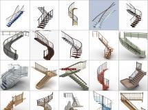 100个精品楼梯模型 -一品素材单体模型库下载