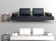 3D沙发模型  办公室皮革沙发模型下载