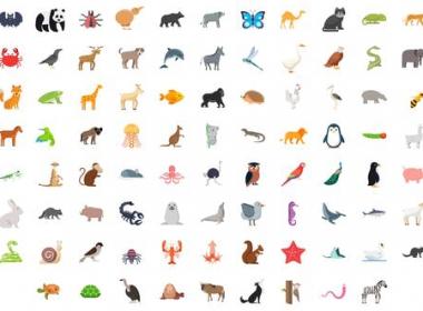 100组卡通动物图标ICON动画 100 Animals - Birds Icons