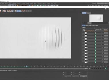 灰猩猩GSG循环波形曲线动画C4D教程 Greyscalegorilla Plus Mesmerizing Mosplines