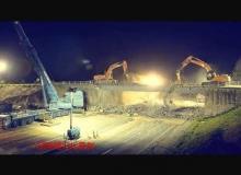 延时摄影拆大桥高清实拍视频素材