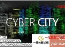 高科技数码虚拟城市视频素材 1080P