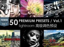 50个Lightroom调色预设 GraphicRiver–50 Premium Lightroom Presets Vol.1