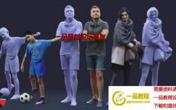 三维人物角色C4D模型 3D People – Mega Collection for Cinema 4D