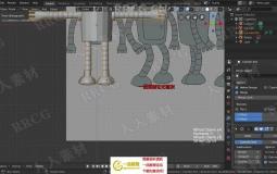 Blender卡通角色建模绑定动画全流程视频教程