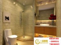 现代家居浴室模型