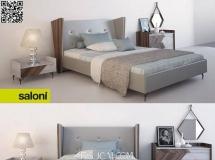 简约卧室双人床床铺及床上用品 高品质模型下载