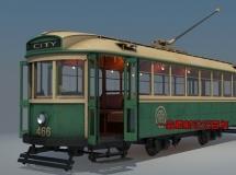 TurboSquid-电车模型