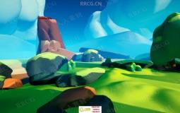 UE4卡通渲染游戏环境场景制作训练视频教程