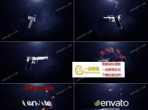 快速的枪支组装和爆炸火焰标志特效AE模板