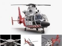 3D高精度直升飞机模型下载