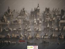 哥特式黑暗城堡建筑景观3D模型合集