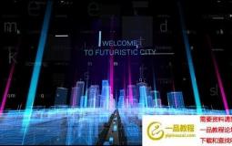 科技感全息城市HUD片头 Hologram City Titles