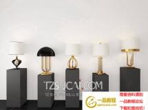 3D灯具模型  现代台灯组合模型下载