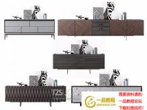 3D条柜模型 现代餐边柜玄关柜子组合