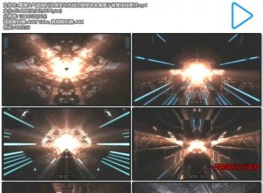 震撼大气超强科技感变幻光线切换转场金属粒子背景视频素材