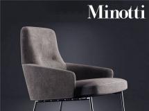 3D椅子模型  布艺沙发椅子下载