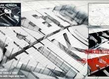 AE模版-素描水墨Logo演绎动画展示模板