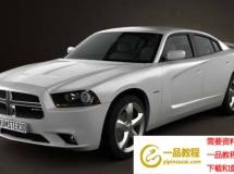 C4D模型下载 道奇挑战者C4D模型 Dodge Charger (LX) 2011(C4D/FBX/MAX/LWO)