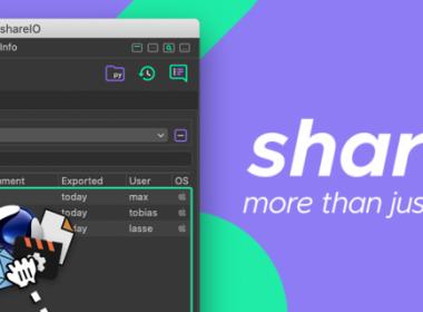 C4D工程文件模型素材贴图材质设置共享插件 Aescripts shareIO v1.10 For Cinema 4D R23 Win破解版