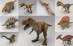 远古恐龙动物C4D模型