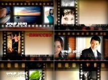 胶片图片展示动画模板——090 AERV_GrungyFilmStrips