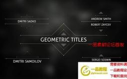 几何线条文字标题动画 Geometric Titles