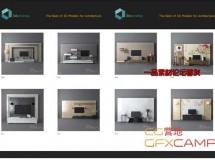 电视电视柜家具室内3D模型 TV & Media Furniture 01-64 【3darcshop出品】