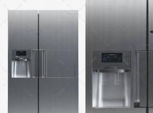 3D电器模型  三星双门电冰箱 冰柜模型