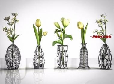 镂空花瓶3DMAX模型-陈设摆件