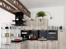 3D橱柜模型  田园风开放厨房3DMAX 模型