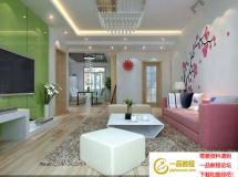 清新彩绘客厅模型